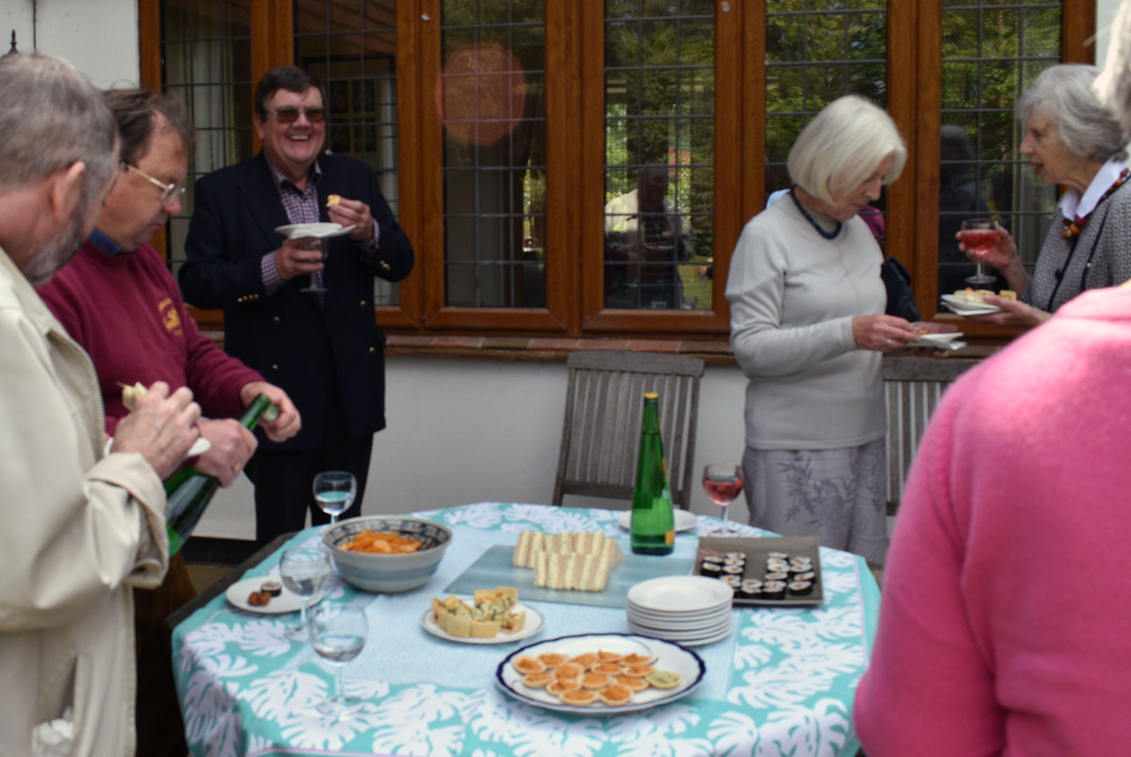 Members enjoying the lunchtime food and drink after Chiyan Wong's recital at Breinton