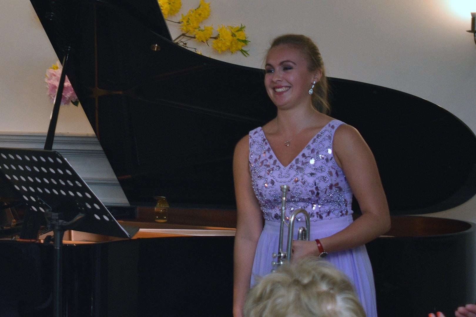 Matilda Lloyd (trumpet)  & Leo Nicholson (piano) at Breinton