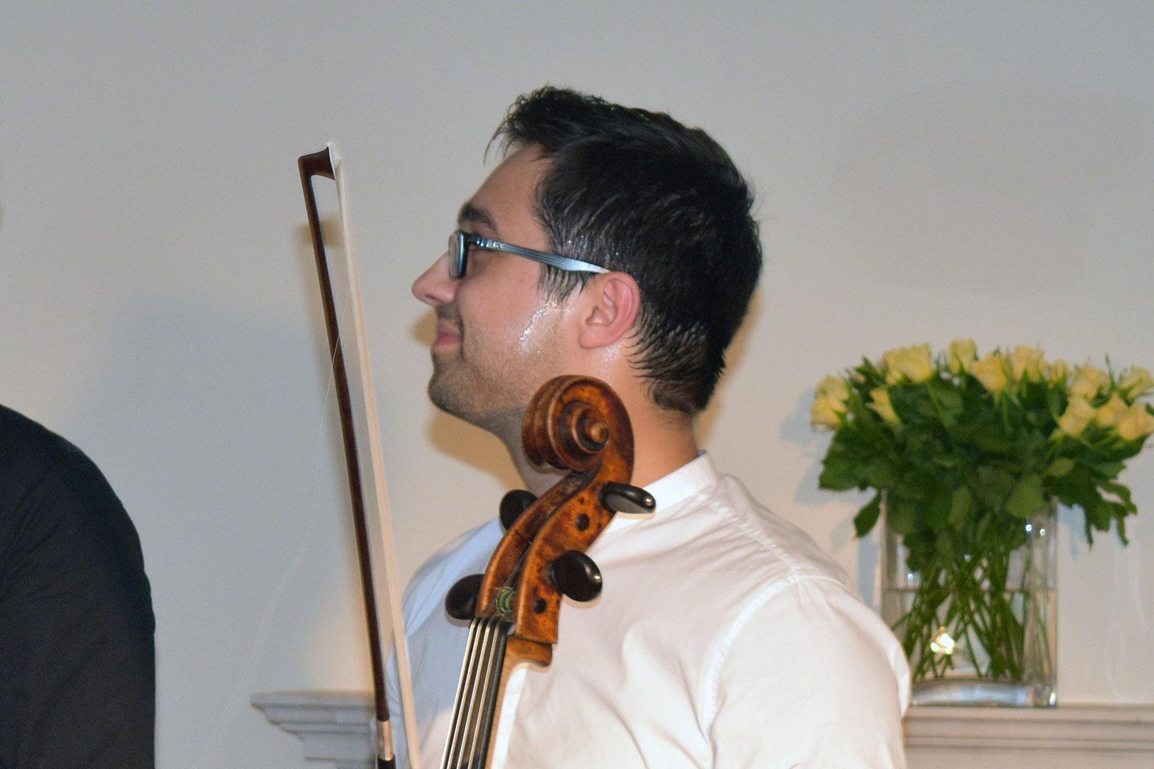 Cellist Michael Petrov at Breinton