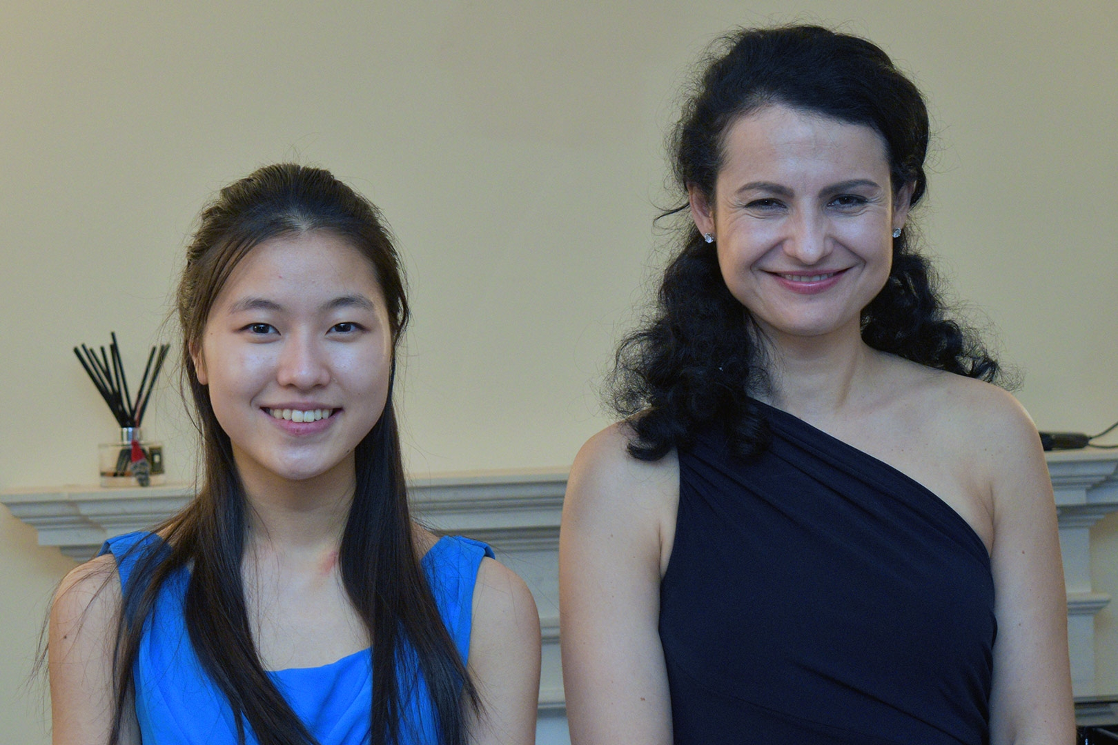 Coco Tomita, violin, and Svitlana Koseno, piano